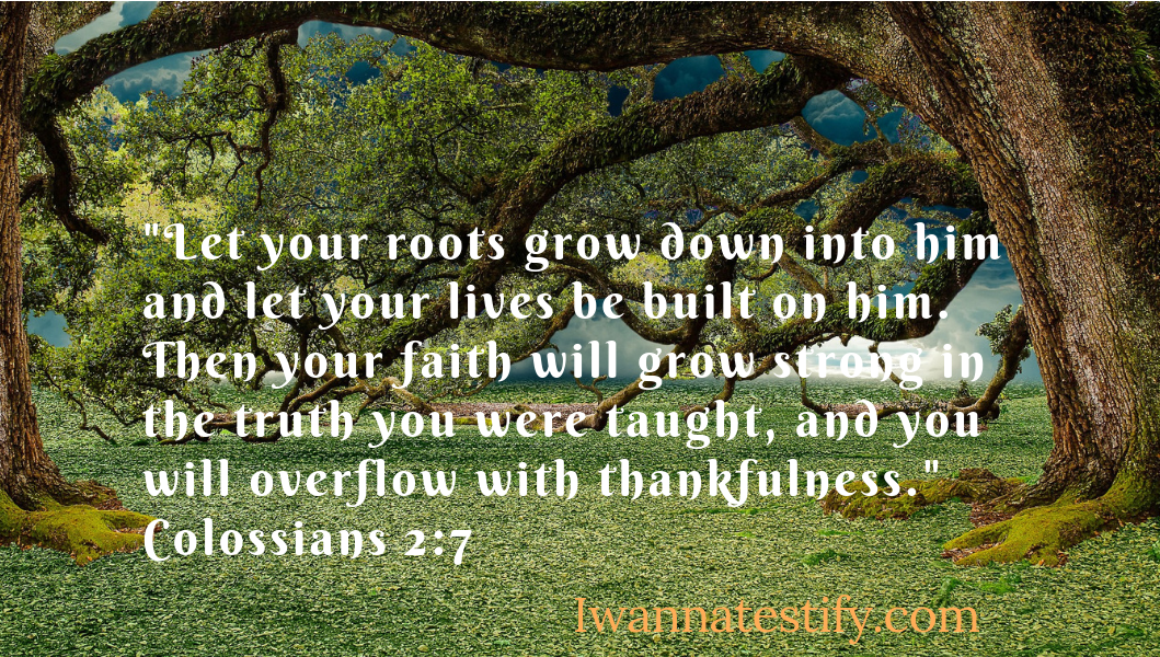 Roots grow into God