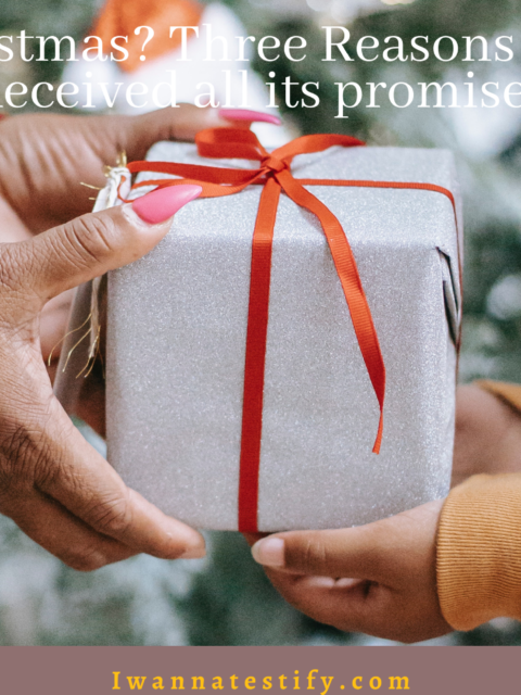 Why Christmas? Three reasons You've not received all its promises